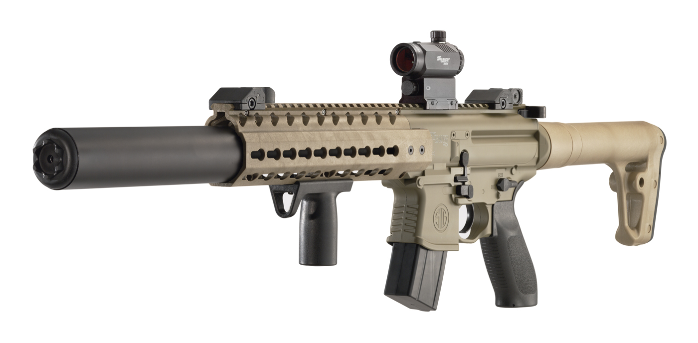 BEST Fittings - SIG SAUER MPX / MCX Conversion to C02 or HPA Paintball Tank